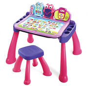 Vtech Touch And Learn Activity Desk Deluxe Pink Interactive Learning Toy Kids