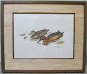 Rare Sherrie Russell Meline Original Painting Duck Stamp Waterfowl Not A Print