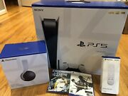 Sony Playstation Ps5 Disc Console Bundle Pulse 3d Headset 2 Games Remote