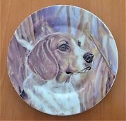 Vintage Beagle 7.5 Inch Diameter Collectors Plate By Living Stone 2005