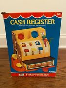 1974 Vintage {fisher-price} Cash Register Toy, 926, With Box And Coins Rare