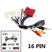 Car 16pin Audio Stereo Wiring Harness Connector With Canbus Box For Mazda 6 Cx-5