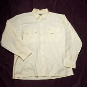 Simms Vented Fishing Button Shirt Mens Size Xl Long Sleeve Cotton Polyester