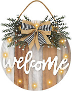 Auing Welcome Sign Front Door Decor Farmhouse Front Porch Decor Wooden Wall Sign