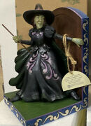New Rare - Jim Shore Witch Bookend Wicked Witch Wizard Of Oz