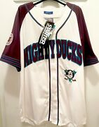 Rare Vintage Large Anaheim Mighty Ducks Hockey Nhl Jersey 1990s New With Tags