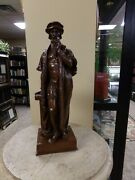 Sale ---large 16 Inch Statue Of John Calvin - Geneva Reformer And Reformation