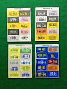 1974 Gen Mills Lot 10 License Plate Stickers Cereal Premium Prize Toy