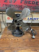 """Antique Westinghouse Electric Fan 12"""" Brass Blades And Cage Centrifugal Start"""