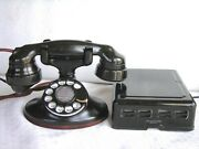 Western Electric 202 E-1 And Subset Restored Antique Telephone Circa 1930