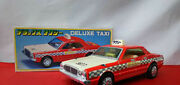 Tin Toys Japan Nomura Toy Deluxe Taxi Red Boxed