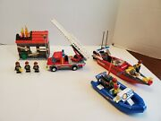 Lego City Fire Emergency 60003 And Fire Boat Set 60005 - 100 Complete