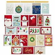 50 New Hallmark Christmas Greeting Cards Assorted Holiday And Envelopes Bulk Lot