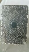 Stunning Antique Sterling Silver Card Case Neill And Cook 1860 Birmingham