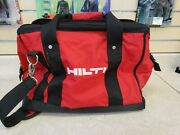 Hilti Heavy Duty Construction 16 Tool Bag Red/black W/ Shoulder Strap Pre-owned