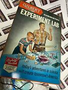 Vintage 1960and039s Gilbert Chemistry Experiment Lab - Metal Display Box