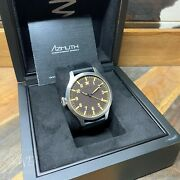 Azimuth Bombardier Vi Watch 47mm New With Left Hand Crown Full Kit