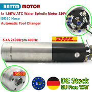 【us/eu】atc Spindle1.8kw Water Cooled Spindle Motor Automatic Tool Changer 220v