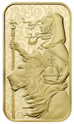 2021 1oz Gold Una And The Lion Bar - In Assay From The Royal Mint .9999 Fine