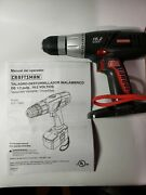 Craftsman 19.2 V Drill, Manual, Onboard Bits/ Battery Not Included