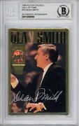 1995 Action Packed Dean Smith 19 Hall Of Fame Autographed Card Rare Beckett Coa