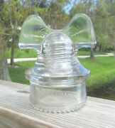 Great Clear Cd 257 Hemingray Mickey Mouse Style Glass Insulator 1
