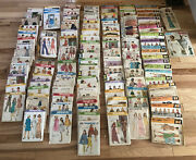 Vintage Simplicity, Vogue, Butterick, Mccalls, Sewing Patterns Lot - Over 100