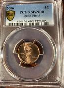 2006 P Lincoln Memorial Cent Penny Pcgs Sp 69 Rd Satin Finish