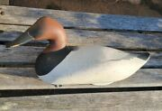 Vintage Joey Jobbes Canvasback Drake Hand Painted And Signed Duck Decoy 1989