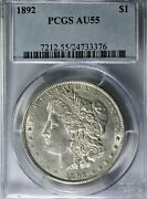 1892 P Morgan Pcgs Au55 - Clean Problem Free - Nice Looking Coin