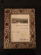 Martin Aborn Italian Wood Hanging Picture Frame Pretty Gold/flower Tone 5 X 7