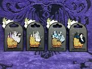 Disney Happy Halloween From The Haunted Mansion Pins Complete Set Of 4 New