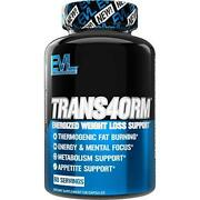Evlution Nutrition Trans4orm - Complete Thermogenic Fat Burner For Weight Loss