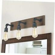 Bathroom Vanity Lights, Farmhouse Water Pipe Wall Sconces(3 Heads A03376