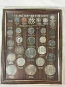 Us 20th Century Type Set 28 Coins 14 Silver Morgan And Peace Dollars Barber Etc
