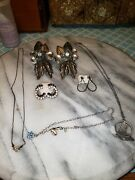 Working Jewelry Vintage Estate Antique Ring Earrings Necklace Lot 1