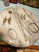 Working Jewelry Vintage Estate Antique Ring Earrings Necklace Lot 2
