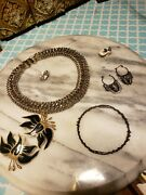 Working Jewelry Vintage Estate Antique Ring Earrings Necklace Lot 3