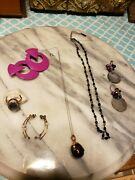 Working Jewelry Vintage Estate Antique Ring Earrings Necklace Lot 4