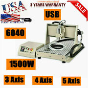 3 Axis Cnc Router 6040 4 Axis Engraver Engraving Machine Woodwork 1500w Vfd 110v