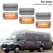 6x Clear Led Side Marker Light For Fiat Ducato Iii Iveco Daily Iv Daf Lf Xf Cf