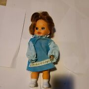 Vintage 1967 Mattel Baby Small Walk 11 C Battery Operated Doll Redhead.