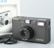 Contax T3 D Black Single Teeth Point And Shoot Film Camera From Japan