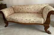 Empire Very Rare Antique Fainting Couch Drop Down Armexquisite 19th Century