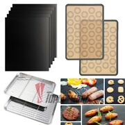Silicone Baking Mat Stainless Steel Baking Pan Non Stick Cooling Rack Grill Mat