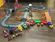 Paw Patrol Mega Roll Complete Track Sets Lookout Tower Tracks + Racers And Fig Lot