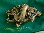 100 Authentic Kieselstein Cord Rare Sterling Silver 925 Dragon Buckle