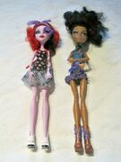 Monster High Doll Lot Robecca Steam And Operetta Dolls Dressed With Shoes