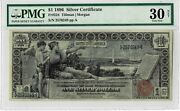 1896 Silver Certificate 1 - Fr 224 - Educational Note - Pmg - Very Fine 30