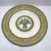 Vintage Monarch Oven Proof Green Wheat Pastern Dish Dinner Plate Replacement